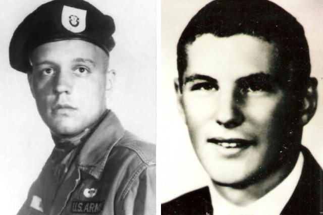 Sgt. 1st Class Alan Boyer, left, and 1st Lt. Doug Hagen, who were high school classmates and served in Vietnam.