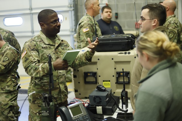The Army's Project Manager Tactical Network, supported by Communication Electronics Command (CECOM) trainers, provided new equipment training and a leadership demonstration for the Disaster Incident Response Emergency Communications Terminal (DIRECT) system to the Indiana National Guard 738th Company in Lafayette, Indiana, in January 2018. The unit was part of a pilot of the capability to provide Soldier feedback for continual system improvement. ()