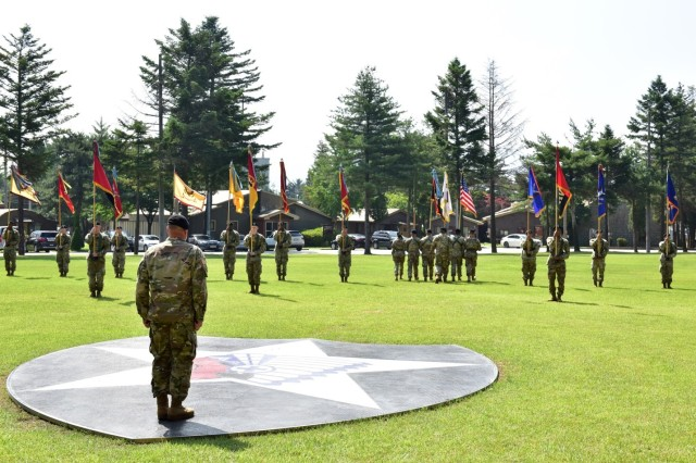 Conclusion of the USAG Camp Red Cloud colors casing