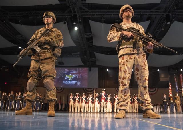 U.S. and Australian Soldiers