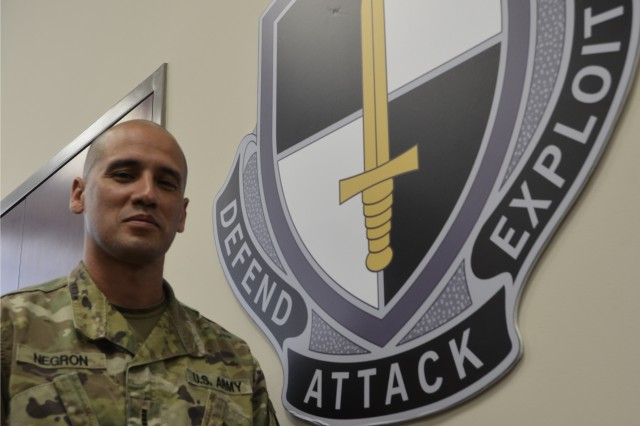 Chief Warrant Officer 4 Raul Negron Jr. started his military career as an enlisted Marine Corps signals intelligence specialist. After more than seven years with the Corps he transferred to the Army as a warrant officer, and now serves as the proponent for all cyber warrant officers in the Army.
