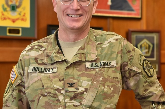 Col. Tom Holliday will relinquish his responsibilities as Garrison commander in a change of command ceremony July 3 at Bob Jones Auditorium.