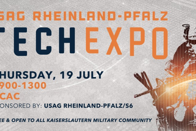 U.S. Army Garrison Rheinland-Pfalz will team up with National Conference Services Inc. for the fourth annual Tech Expo, July 19, at the Kaiserslautern Community Activity Center on Daenner Kaserne.