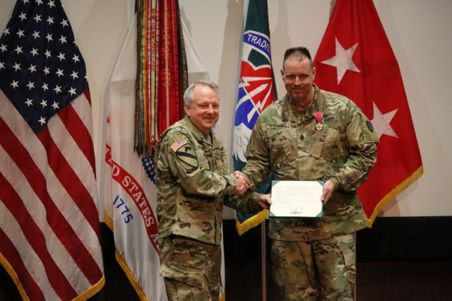 """Command Sgt. Maj. Michael O'Donnell retired from the United States Army following a 30 year career on July 3. During the ceremony he stated, """"this is less about the ceremony, and more about the journey. It was the people I have encountered who have made the most impact on me, and I've never had any regrets."""""""