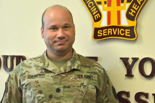 Lt. Col. Daniel Cash, the deputy commander for Clinical Services at Kenner Army Health Clinic, has served in the Army for 13 years and credits the service for paving the path for practicing medicine. (Photo by Amy Perry)