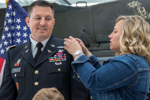 Boley promotion ceremony to Chief Warrant Officer 5
