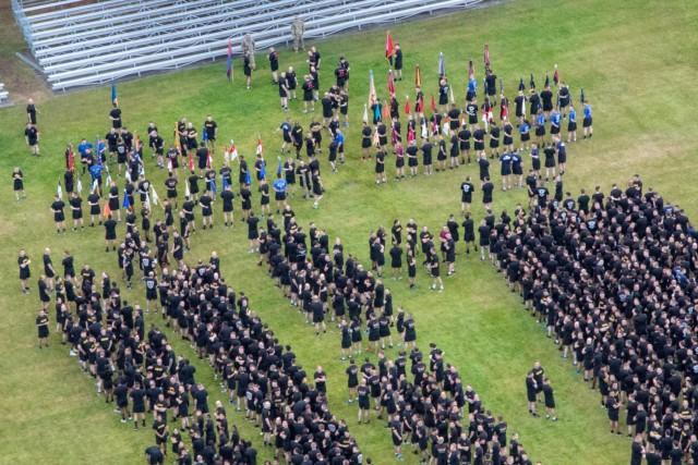 America's First Corps Run, celebrates Army's 243rd Birthday Aerial photos
