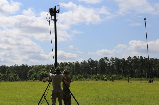 Project Manager Tactical Network, with support from Communications Electronics Command trainers, completed 67th Expeditionary Signal Battalion new equipment training and fielding for the small form factor, modular Terrestrial Transmission Line Of Sight radio and several other new expeditionary Signal Modernization capabilities in June 2018, at Fort Gordon, Ga.