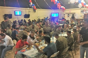 TAAC-S Soldiers Share Afghan Eid Celebration