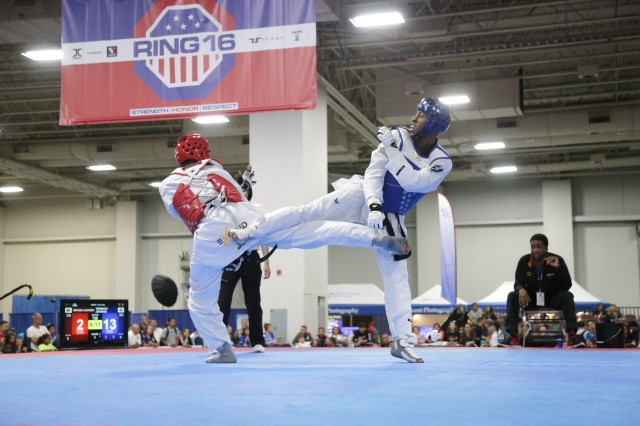 Spc. Terrence Jennings won gold in the men's light-weight class. He has been a member of WCAP for two years and recently made the United States of America's taekwondo CISM team.