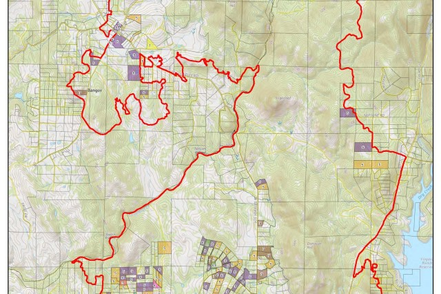 A sample of a mission status map, created by the U.S. Army Corps of Engineers with GIS technology, helped California and federal officials with cleanup efforts following the devastating forest fires in northern California in 2017.