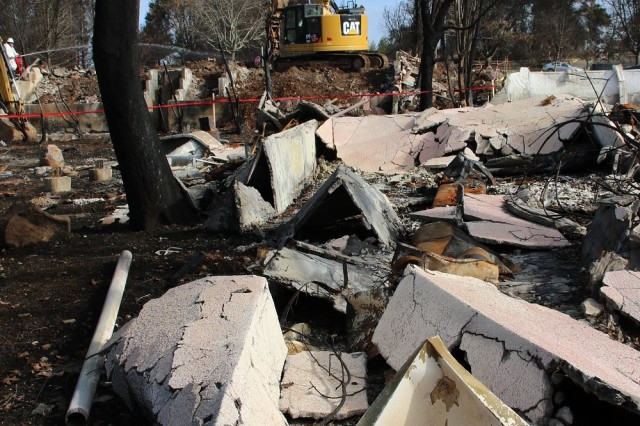 The U.S. Army Corps of Engineers, under the direction of the Federal Emergency Management Agency and in partnership with the California Governor's Office of Emergency Services, removed more than one million tons of fire-related debris left behind by the October 2017 northern California wildfires that blazed through Sonoma County.