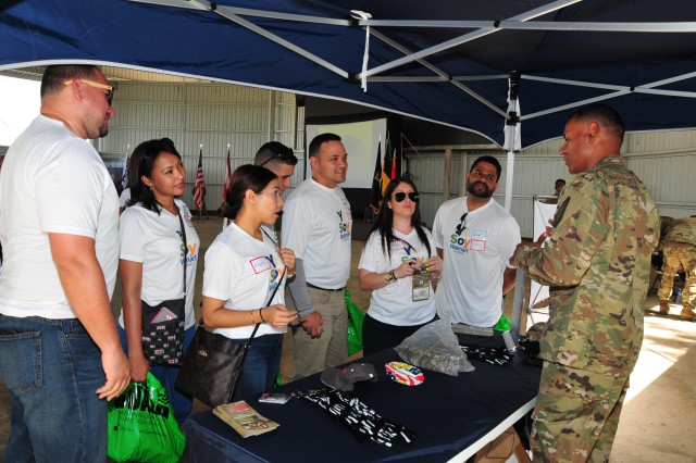 """The Puerto Rico National Guard and the Employer Support to the Guard and Reserve (ESGR), conducted the now traditional employer day """"Bosslift"""" at Camp Santiago, Salinas.  During the day the employers had the opportunity to participate in a variety of military equipment exhibitions and demonstration.  They also participated in a virtual reality convoy, used weapons at a simulated weapons range and witnessed a riot control and active shooter apprehension demonstration.  In addition to the use of military equipment and eating on military rations, the employers had the chance to get an orientation flight in a UH-60 Black Hawk helicopter."""