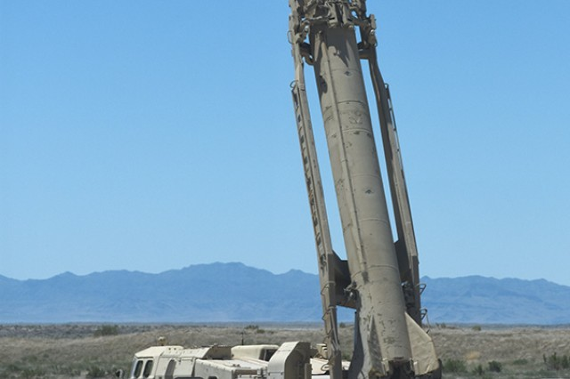 A Russian SCUD missile launcher was recently the interest of a system to detect ground disturbances at Dugway Proving Ground, Utah. Much of the system is sensitive and cannot be specified, but its developers use the data generated from Dugway testing to develop algorithms for detecting people, vehicles and pack animals after they have passed over the ground, or the burying of munitions and improvised explosive devices beneath it. Photo by Al Vogel, Dugway Proving Ground Public Affairs