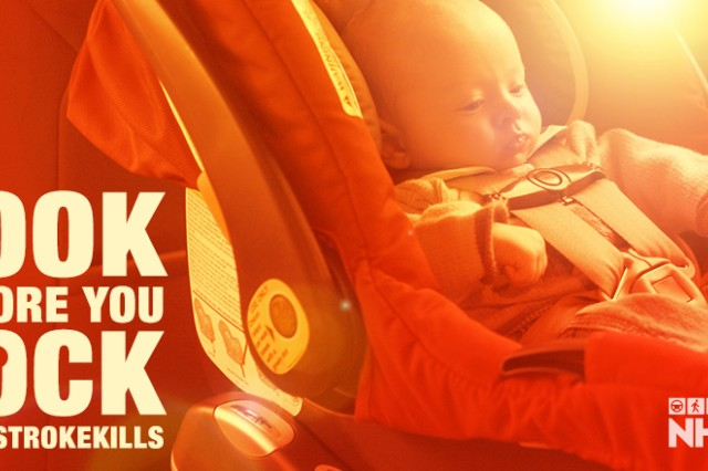 "According to the National Highway Traffic Safety Administration, a car can heat up by 20 degrees and become deadly for infants and small children. That's enough to kill a child left alone in a vehicle. Always ""Look Before You Lock."""