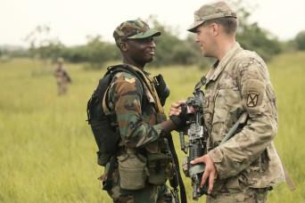 United Accord exercise builds friendship, skills through jungle warfare training in Ghana