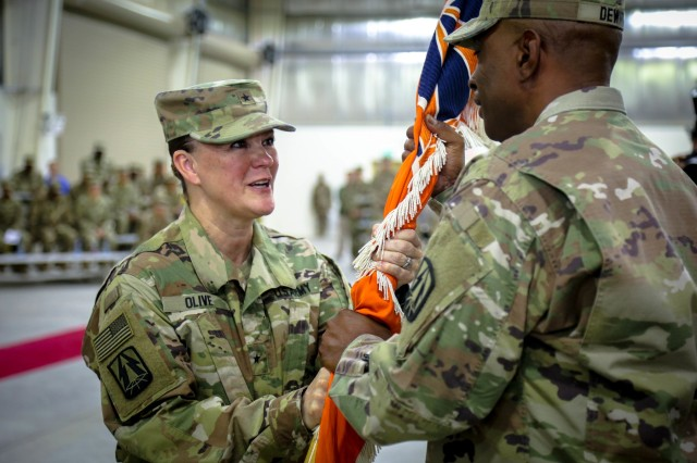 335th Signal Command (Theater) (Provisional) welcomes new commander - Bg. Gen. Nikki L. Griffin Olive