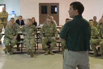 Secretary of the Army pays visit to 38th ID Guard members