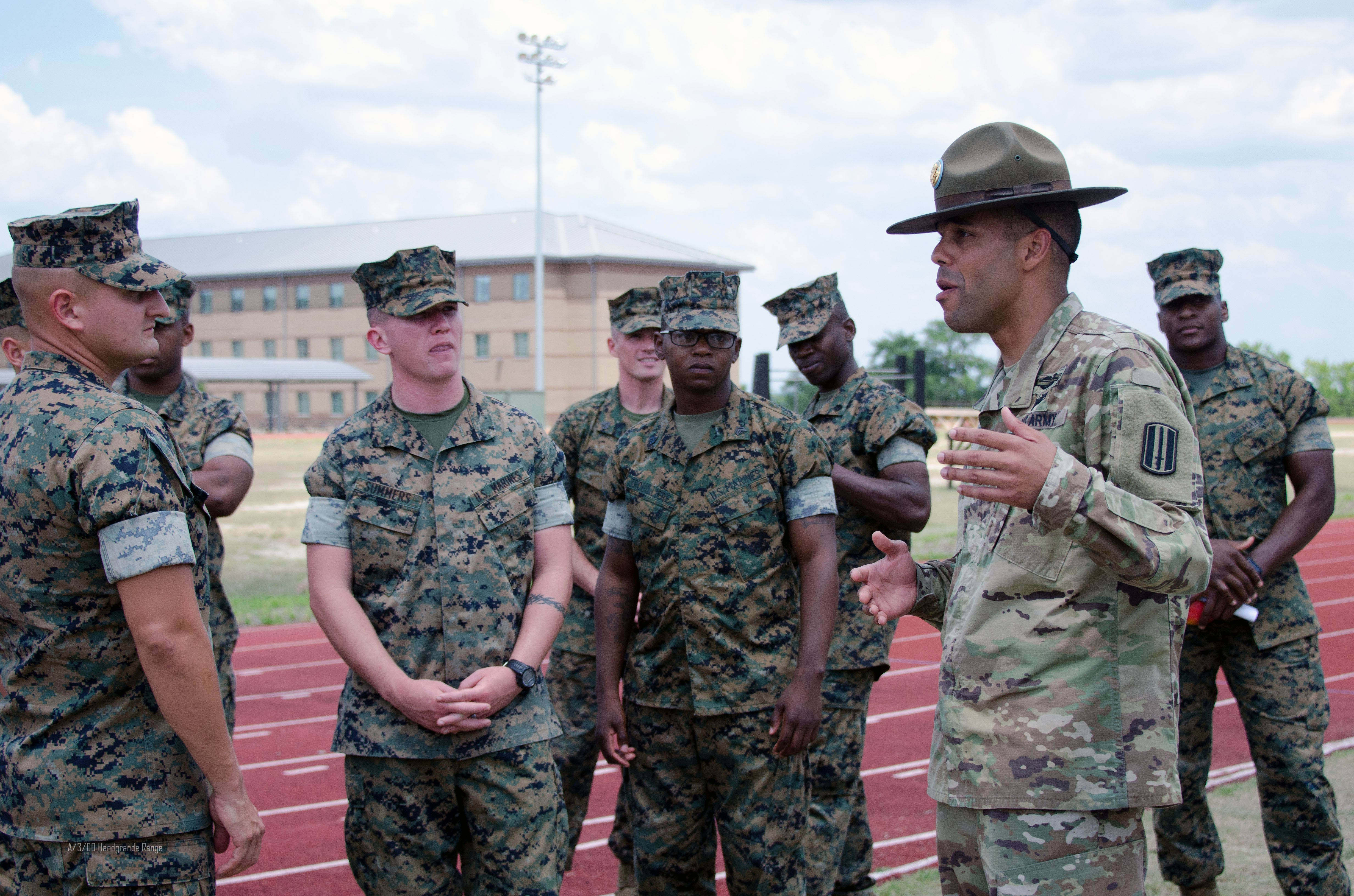 Basic Training Photos >> Marines See How The Army Puts Combat In Basic Training Article