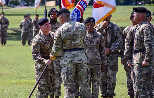 USAREC Change of Command/Responsibility Passing Colors