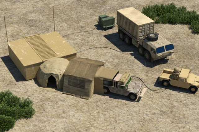 The Expeditionary Command Post is a 20-foot expandable rigid  refuge command post node. When compared to a tent-based command post, the ExCP can  exist fully operational within 30 minutes of emplacement or can  exist packed and moved in the  identical amount of time.