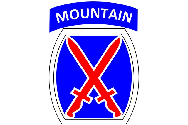 Shoulder insignia for 10th Mountain Division.