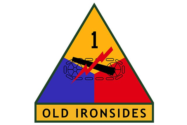 1st Armored Division shoulder insignia.
