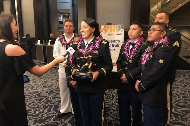 Joint Hawaii Culinary Arts Team scores a gold medal win for the Cold Food layout at the 2018 Cook. Craft.Create. American Culinary Federation National Convention and Show in New Orleans, La., July 15-19