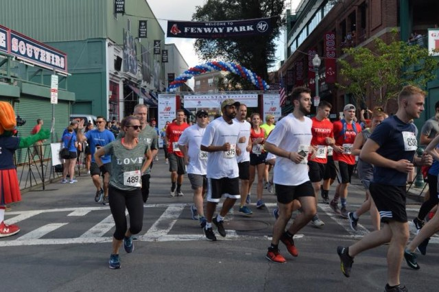 More than 2,500 runners took to the streets of Boston to support the Home Base Program. The program is a partnership between the Red Sox Foundation and Massachusetts General Hospital provides treatment for Soldiers, veterans and family members battling the invisible wounds of war.