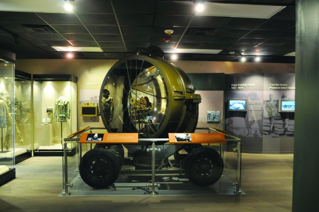 The Sperry Searchlight is on display in the Stewart gallery at the 3rd Infantry Division Museum on Fort Stewart. (U.S. Army photo by Michelle Cowart)
