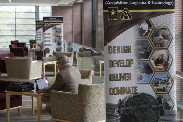 Innovators gather at the Tommy Douglas Conference Center in Silver Spring, Maryland. Aug. 1-3 to present new science and technology ideas to a panel of Army scientists and engineers. The panel is the first of five in a nationwide competition to bring novel S&T solutions to future Soldiers.