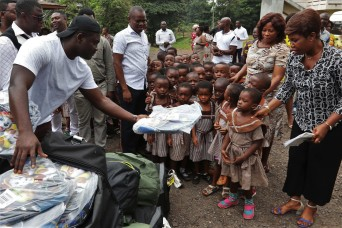U.S. Soldier gives back to hometown school in Ghana