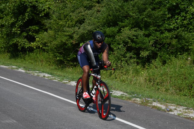 Sgt. 1st Class Michael Smith, U.S. Army recruiter and athlete, trained to compete as a triathlete at the Paralympic level. He recently moved to Colorado Springs, Colorado, from Fort Knox, Kentucky to serve as part of the U.S. Army's World Class Athlete Paralympic Program.