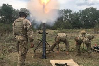 Mortarmen Conduct Training in Macedonia