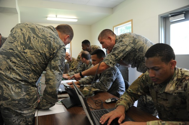 Airmen and Soldiers converged during Exercise Patriot Warrior on Aug. 8, 2018 at Fort McCoy, Wisc. Patriot Warrior is an exercise designed to test the capabilities of the Air Force Reserve and its joint partners.