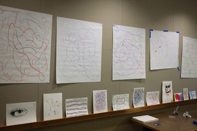 Participants could take home their completed artwork after the YLF.