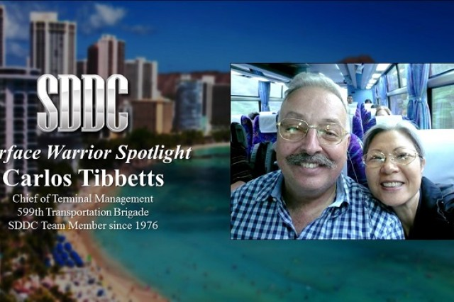 The 13th edition of the Surface Warrior Spotlight shines brightly on the Aloha state, focused on Mr. Carlos Tibbetts, the chief of terminal management from the Military Surface Deployment and Distribution Command's (SDDC) 599th Transportation Brigade.