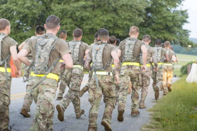 Soldiers from the 75th Ranger Regiment at Fort Benning, Ga., wore real-time physiological status monitors, or RT-PSMs, under their shirts while completing a five-mile run during the Ranger Assessment Selection Program. Analyzing data collected from the RT-PSMs will help U.S. Army Research Institute of Environmental Medicine researchers find heat illness predictors and establish thresholds for what is considered dangerous during training, which could help the Army develop better preventative practices against heat illness.