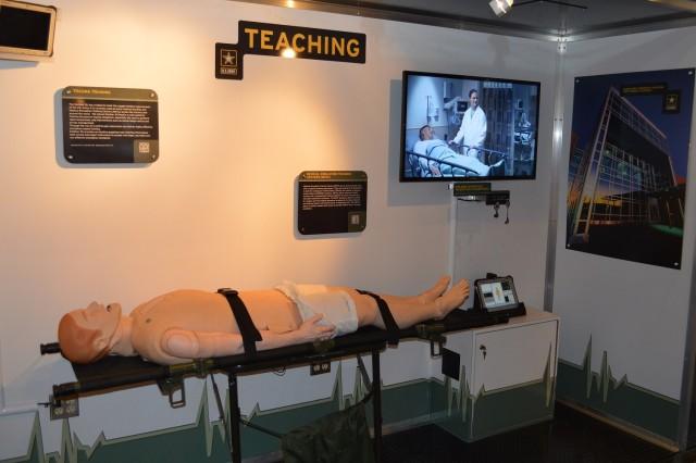 Army SIM Man Exhibit in the Medical Marketing Semi