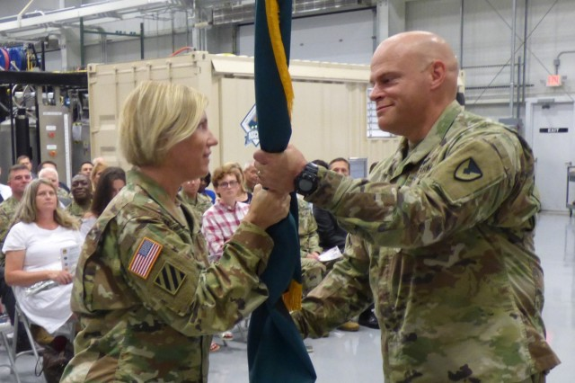 Col. Kelso Horne assumed command of the U.S. Army Chemical Materials during a change of command ceremony August 2, 2018 at Aberdeen Proving Ground in Edgewood, Md. The event was hosted by Col. Michelle Letcher, commander of Joint Munitions Command.