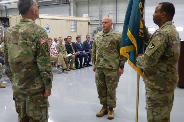 Col. Kelso Horne assumed command of U.S. Army Chemical Materials Activity during a change of command ceremony August 2, 2018 at Aberdeen Proving Ground in Edgewood, Md. The ceremony was hosted by Col. Michelle Letcher, commander of the Joint Munitions Command.