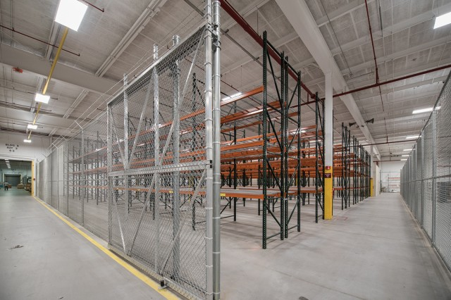 A section of a Tobyhanna Army Depot warehouse was redesigned to meet the needs of new workload.