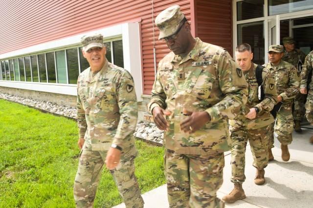 Gen. Perna, AMC commanding general and Maj. Gen. Wins, RDECOM commanding general after the quarterly update meeting.