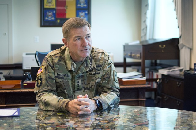 Gen. James McConville, the Vice Chief of Staff of the Army, played a key role in developing the new Army Futures Command, which will work to modernize sustainment technology.