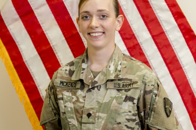 New York Army National Guard Spec. Nicole McKenzie, a member of Company A, 101st Expeditionary Signal Battalion, used her combat life saver skills to help save the life of a 12-year old boy who jumped from an overpass in Yonkers on Aug. 3, 2018.