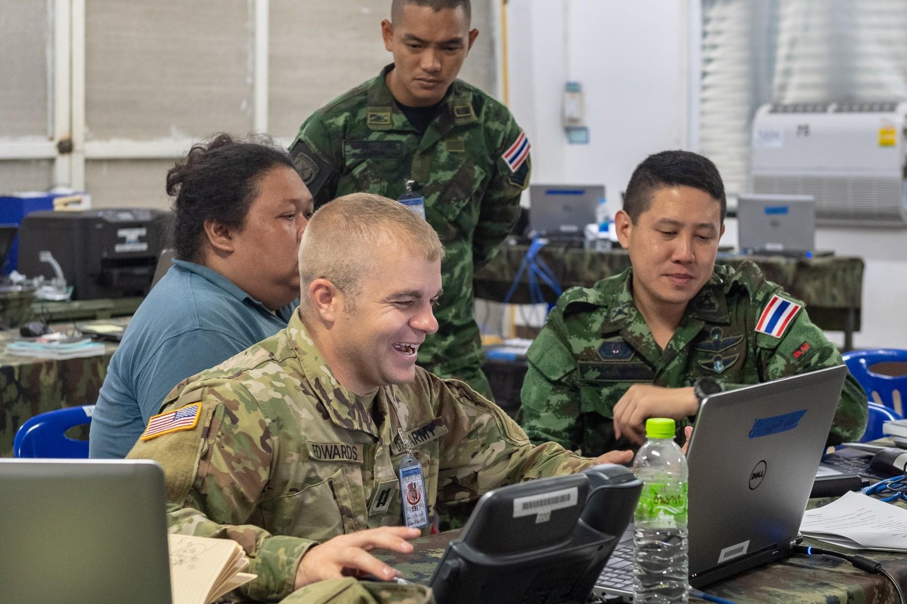 Idaho Army National Guard and Royal Thai Army work together