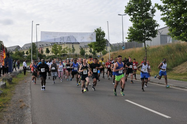 A total of 105 runners, including 98 servicemembers and seven civilians, competed in the U.S. Forces Europe Army 10-Miler Qualifier Race held at U.S. Army Bavaria, Germany.