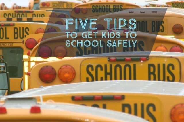 School is back in session! Be sure your child gets to school safely.