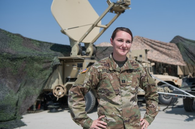 Idaho Army National Guard Capt. Haily Barley, a signal officer with the 116th Cavalry Brigade Combat Team's 116th Brigade Engineer Battalion, works for the Middleton Police Department as a school resource officer.