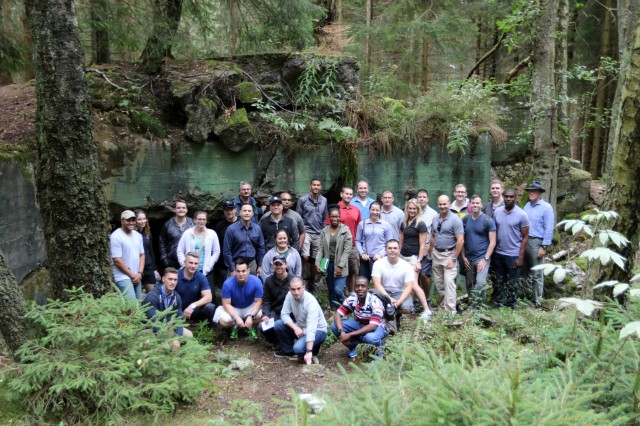 7th MSC junior officers develop military decision making skills during staff ride to Aachen, Huertgen Forest